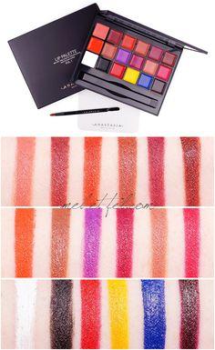 Die Anastasia Beverly Hills Lip Palette Vol. 1 - mel et fel Anastasia Beverly Hills, Lip Palette, Color Mixing, Eyeshadow, Make Up, Lips, Cosmetics, Beauty, Colors