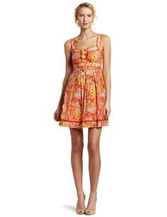Amazon.com: Jessica Simpson Women's Ruffle Tankd Sundress: Clothing
