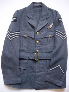 Hi Guys, this was the basic service dress jacket issued to all NCO's and Other ranks in the RAF. British Uniforms, Ww2 Uniforms, Military Uniforms, Military Jacket, Combat Jacket, Combat Pants, Military Costumes, Military Dresses, Jacket Dress