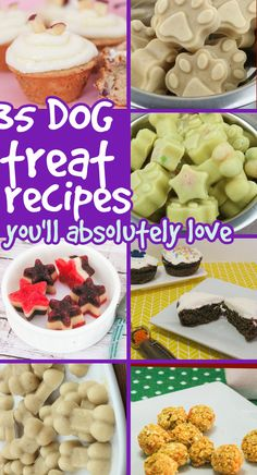 Dog Treat Recipes: The easiest homemade dog treat recipe collection ever! Easy Dog Treat Recipes, Homemade Dog Treats, Dog Food Recipes, Make Dog Food, Best Dog Food, Dog Biscuit Recipes, Peanut Butter Dog Treats, Recipe Collection, Biscuits