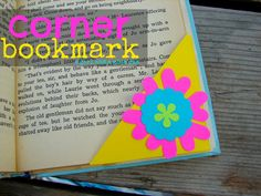 A girl and a glue gun: corner bookmarks with astrobright!