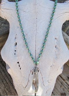 Turquoise Crystal: Necklace