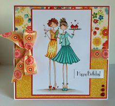 Love the colors of this paper--looks so good with how she did the stamp.  I want to do this! Our Life in Colors: Happy Mother's Day!