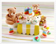 Teddy Bears tea party #cake #topper set