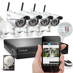 Special Offers - Funlux 4 Megapixel 720P HD Wireless Outdoor IP Network Home Surveillance Camera System with 1TB Hard Drive  4CH Security NVR Wifi Kit with Free APP for iPhone - In stock & Free Shipping. You can save more money! Check It (August 29 2016 at 01:08AM) >> http://smokealarmusa.net/funlux-4-megapixel-720p-hd-wireless-outdoor-ip-network-home-surveillance-camera-system-with-1tb-hard-drive-4ch-security-nvr-wifi-kit-with-free-app-for-iphone/