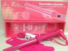 iso Twister professional hair Curling iron frizz control infrared technology NEW