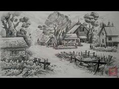 A landscape with pencil pencil art paintlane pencil sketch drawing, pencil Pencil Sketches Landscape, Pencil Sketch Drawing, Pencil Shading, Pencil Art Drawings, Art Sketches, Art Tutorials, Art Projects, Poster, Wedding Band