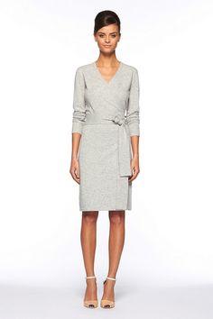 Diane Von Furstenberg Linda Dress in Gray (grey melange)