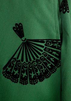 B. Jones Style Skirt in Pine | Mod Retro Vintage Skirts | ModCloth.com