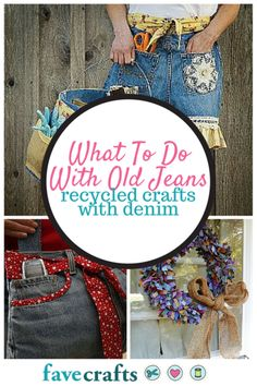 These recycled crafts and recycled craft ideas are the perfect way to learn how to upcycle jeans!