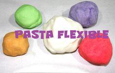 Masa flexible sin cola, NO TÓXICA, muy fácil y con sólo 3 ingredientes