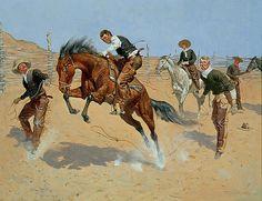 Turn Him Loose - Frederick Remington