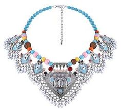 Shop our unique, selective range of necklaces and complete any outfit. From statement bohemian bibs to simple classic chokers, browse our vibrant collection as Bead Jewellery, Fashion Jewelry Necklaces, Metal Necklaces, Fashion Necklace, Beaded Jewelry, Beaded Necklace, Statement Necklaces, Jewelery, Collar Chain