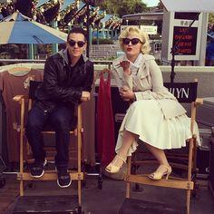 Oh ya know, just chillen with Marilyn Monroe. #iamdavidvo #marilynmonroe #cool #universal #like #follow #love #instamood #instagood #me #style #marilyn #picoftheday #igers