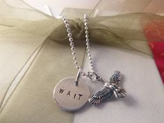 Isaiah 4031 Necklace Wait Upon The Lord Necklace by hjvdesigns, $30.00