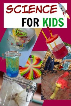 The BEST science experiments for kids on the web. Make volcanos, lava lamps, model hearts, ice excavations and lots more #scienceforkids #sciencesparks #easyscience