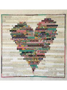 """Use your favorite color to make this lovely quilt. This Jelly Roll pattern also makes a great scrap quilt. Finished size is 74"""" x 90""""."""