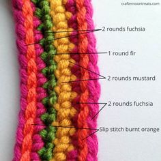 Crochet festival bag handles - crafternoontreats.com - free pattern and tutorial available