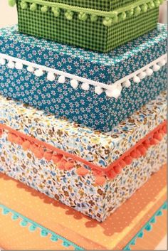 Diy Home Crafts, Crafts To Make, Diy Step By Step, Creative Box, Prayer Box, Pretty Box, Altered Boxes, Sewing Box, Diy Box