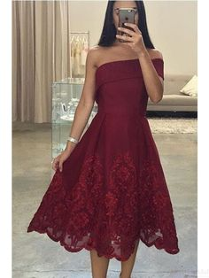 burgundy homecoming dresses,2k17 homecoming dresses,lace homecoming dresses,off shoulder prom dresses, tea length party dresses, cocktail dresses#SIMIBridal #homecomingdresses