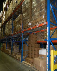 View of a warehouse optimizing its use of barcode rack labels