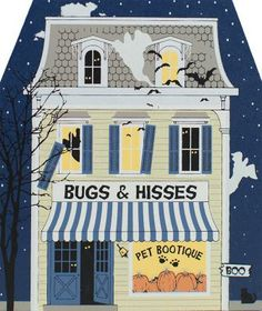 Bugs & Hisses Pet Bootique with glow-in-the-dark surprises | The Cat's Meow Village