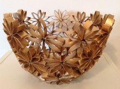 Toilet Paper Origami Flower Pot