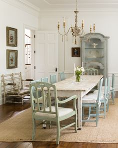 Airy Farmhouse Interior Decor by Samantha O'Connor in Steve Giannetti designed home
