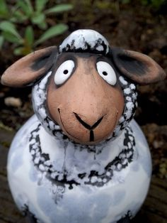 Ceramic Animals, Clay Animals, Sheep Crafts, Easter Lamb, Paper Mache Crafts, Fondant Figures, Gourds, Kitsch, Polymer Clay