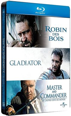 Trilogie Russell Crowe en un seul coffret blu-ray métal édition limitée