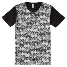 Full Print Skulls Shirt - click/tap to personalize and buy