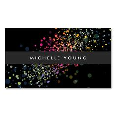 COOL and UNIQUE BLACK CONFETTI Double-Sided STANDARD BUSINESS CARDS (Pack OF 100). This is a fully customizable business card and available on several paper types for your needs. You can upload your own image or use the image as is. Just click this template to get started!