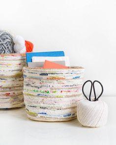 DIY: rag rug storage baskets - Sugar & Cloth