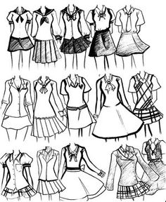 sketches of school uniform designs - Google Search