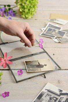 Double sided picture frames with glass both sides are perfect for creating collages and personalised gifts. Try these creative ideas for styling your frames
