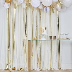 Gold Metallic Party Streamers Backdrop | Original Party Bag Company - Ginger Ray – The Original Party Bag Company
