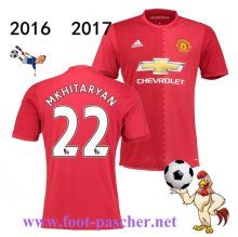 Premier: Maillot Football Manchester United Rouge (Mkhitaryan 22) Domicile 2016…