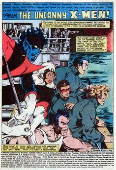 X-Men page 1 by John Byrne & Ric Villamonte & Glynis Wein. Comic Book Artists, Comic Artist, Comic Books Art, Book Cover Art, Comic Book Covers, Hq Marvel, Marvel Comics, Wolverine Art, Comic Book Panels