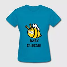 Baby Inside Little Bee Mummy Maternity Pregnancy - Women's T-Shirt