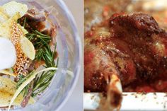 Slow-Roasted Shoulder of Lamb, rubbed with Rosemary, Anchovy, and Lemon Zest