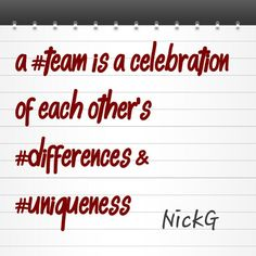 Team is a hybrid in action. #team #collection #talents #unique #uniqueness #differences #thoughts #perspective #inspiration #life #business #entrepreneurship
