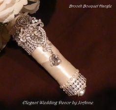 Custom Bridal Bouquet Handle by:  Elegant Wedding Décor by JoAnne