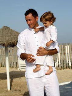 """Camisa Gandhi en """"Linoyfino"""" #Artesanía #Belleza #Moda #camisa #playa #hombre #lino #algodon #cuellomao #verano #ibizenco #look"""