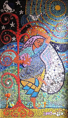 dance of life mosaic by caroline jariwala