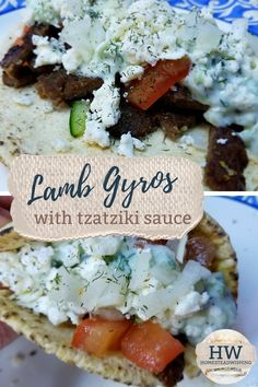Lamb Gyros With Tzatziki Sauce If you're looking for a close to authentic gyro recipe, this is it! Lamb Recipes, Greek Recipes, Sauce Recipes, Meat Recipes, Cooking Recipes, Recipes With Tzatziki Sauce, Light Recipes, Healthy Recipes, Gyro Meat
