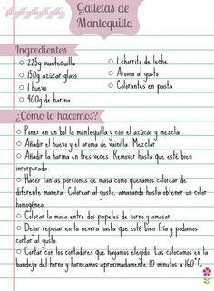 Receta Mexican Food Recipes, Sweet Recipes, Cookie Recipes, Dessert Recipes, Desserts, Cake Cookies, Sugar Cookies, Cupcake Cakes, Galletas Cookies
