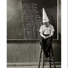 The dunce cap corner not today 39 s way of handling for Dunce hat template