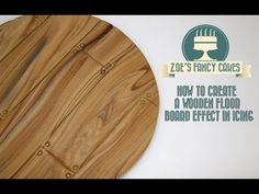 How to make a wooden floor board effect in icing for cake decorating