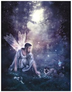 Luna, Light of Fae, via Etsy. #faeries #pixies #nymphs