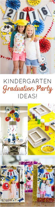 Some fun ideas for hosting a preschool or kindergarten graduation party playdate!